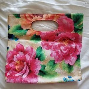 Handbags - floral print clutch